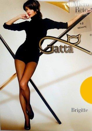 Rajstopy Kabaretki Gatta 1-2 (S) Brigitte 06 (żół)